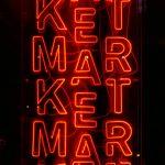 "Neon sign saying ""Market"""